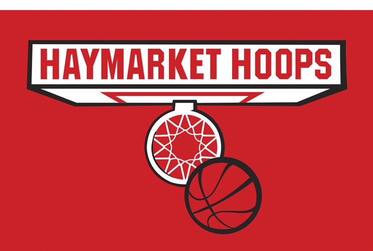 Color logo for Haymarket Hoops